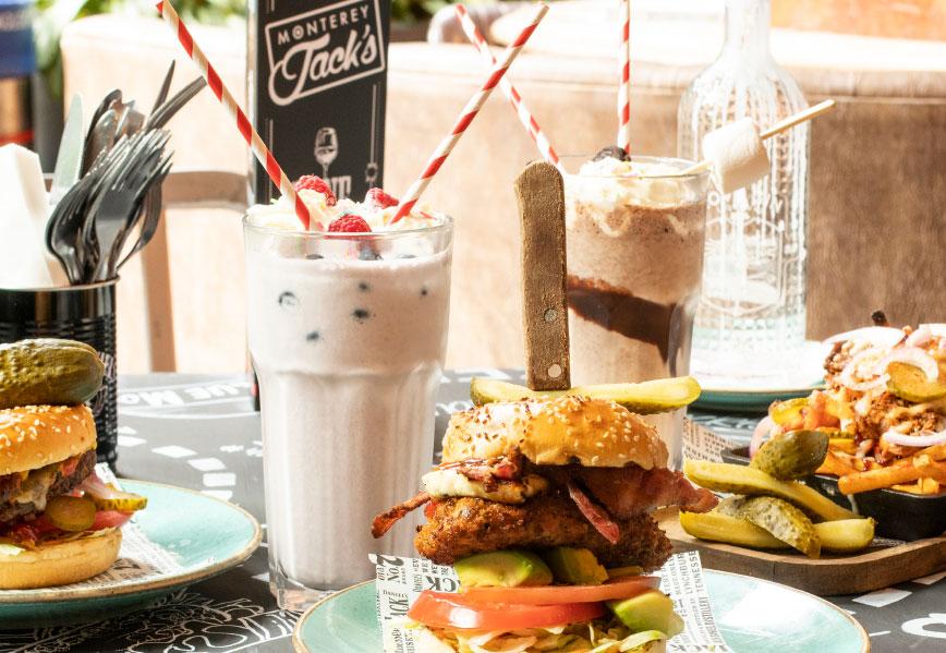 Monterey Jacks shakes and burgers